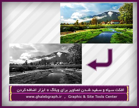 افکت سیاه و سفید شدن تصاویر برای وبلاگ + ابزار اضافه کردن
