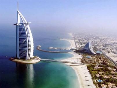 تصویری از نمای برج العرب