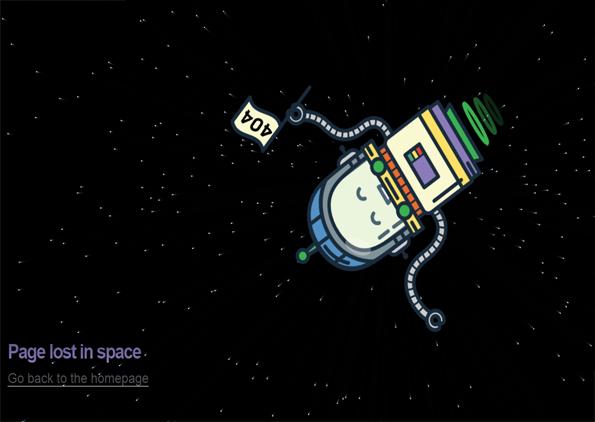 صفحه 404 طرح فضانورد