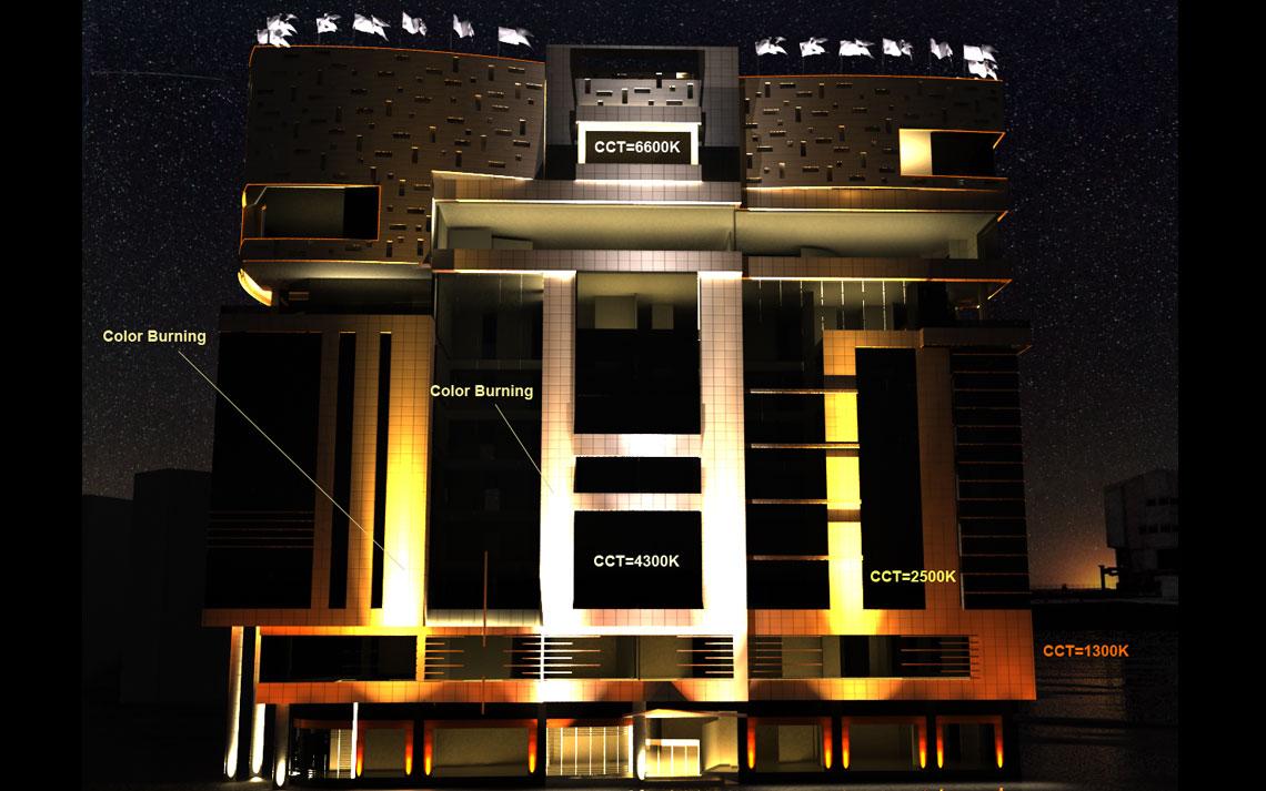 نورپردازی در نمای ساختمان