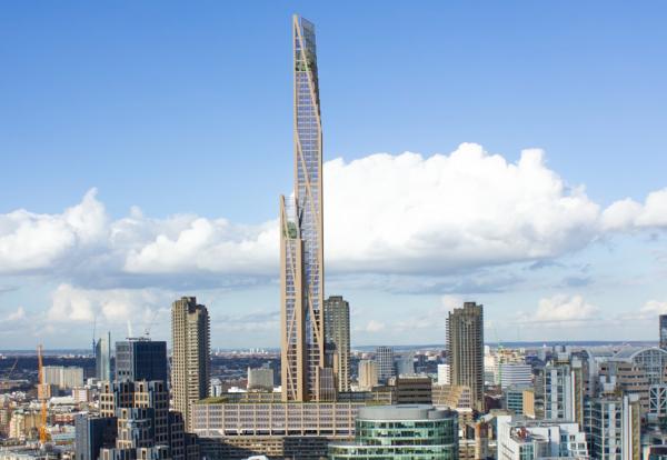 تصویر آسمانخراش چوبی لندن
