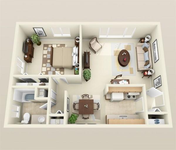 نقشه ساختمان 1 خوابه