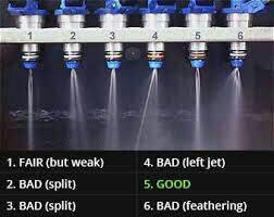 تصویری از پاشش سوزنهای انژکتور(سوزن 5 بهترین نوع پاشش را دارد )