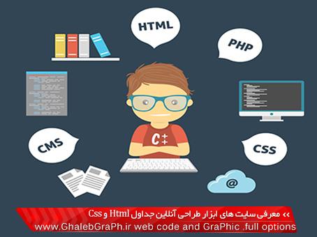 معرفی سایت های ابزار طراحی آنلاین جداول Html و Css