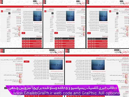 قالب خبری ریسپانسیو و 5 حالته News برای 15 سرویس وبلاگدهی با آموزش تغییر