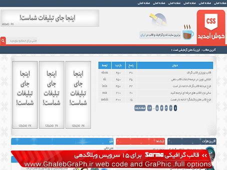 قالب گرافیکی Sarma برای 15 سرویس وبلاگدهی - در دو نسخه واکنشگرا و غیر واکنشگرا